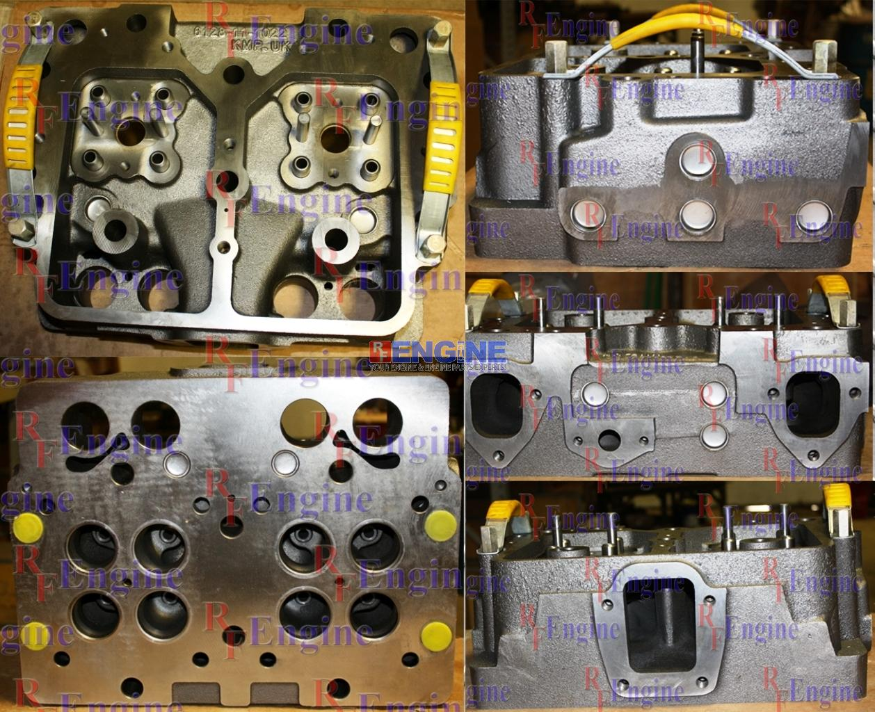 Image is loading Cylinder-Head-New-Komatsu-S6D155-4-SA6D155-4-