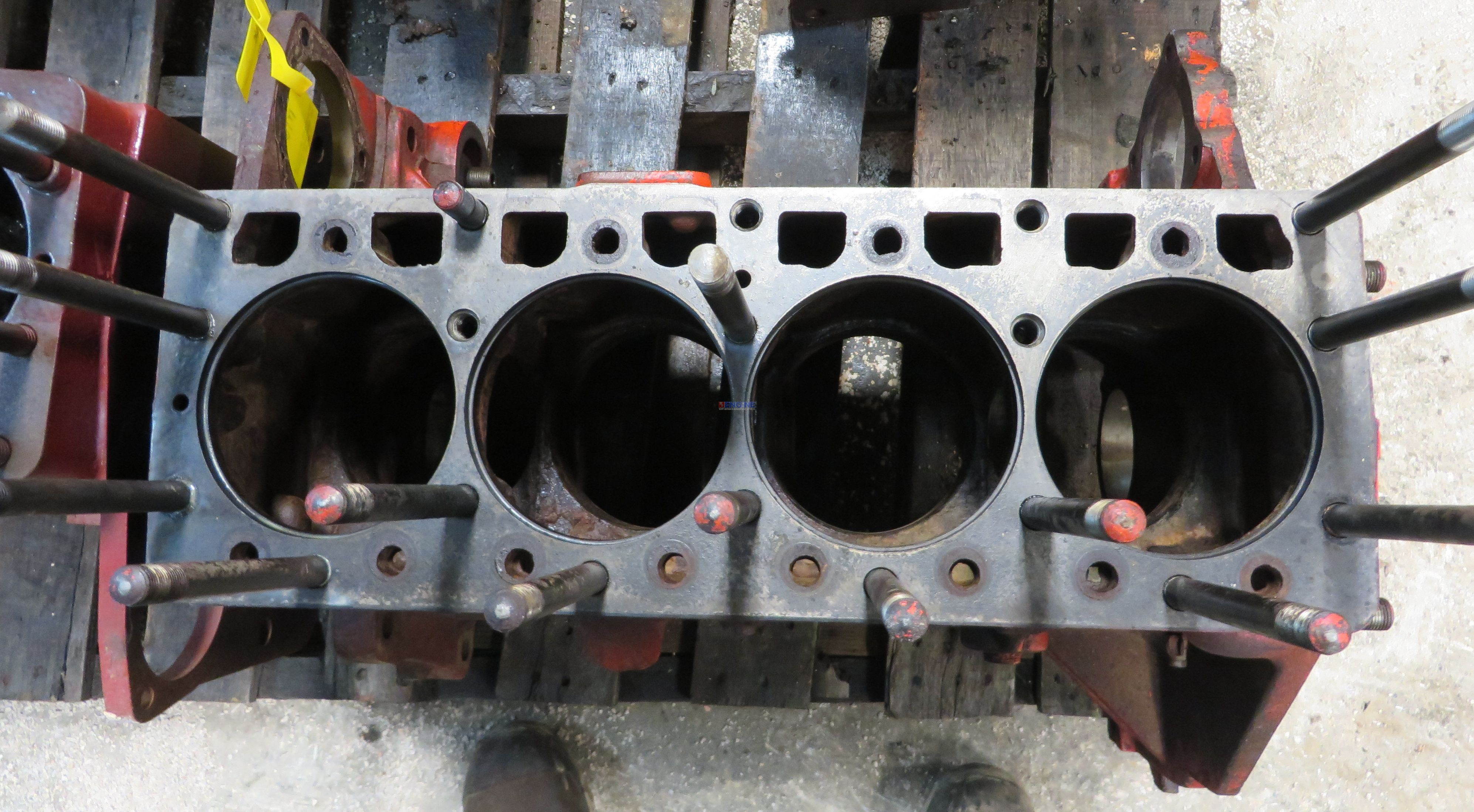 Case 188, 201 Engine Block Good Used A37747, A2016 Filter Spins on Block 4  Cyl