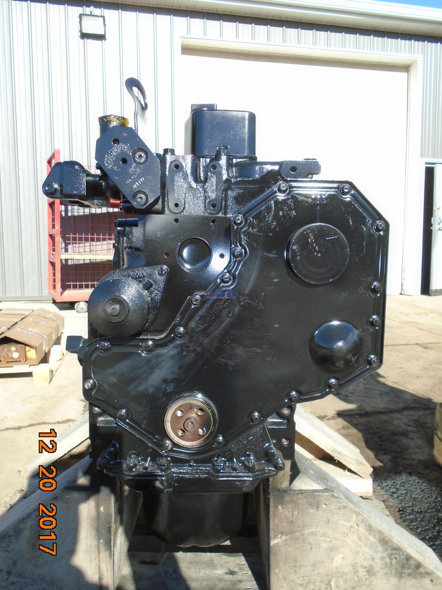 R. F. Engine Cummins, Komatsu 4B, 5.9L, S6D102E-1 Engine Long Block Rebuilt 2071, 2296