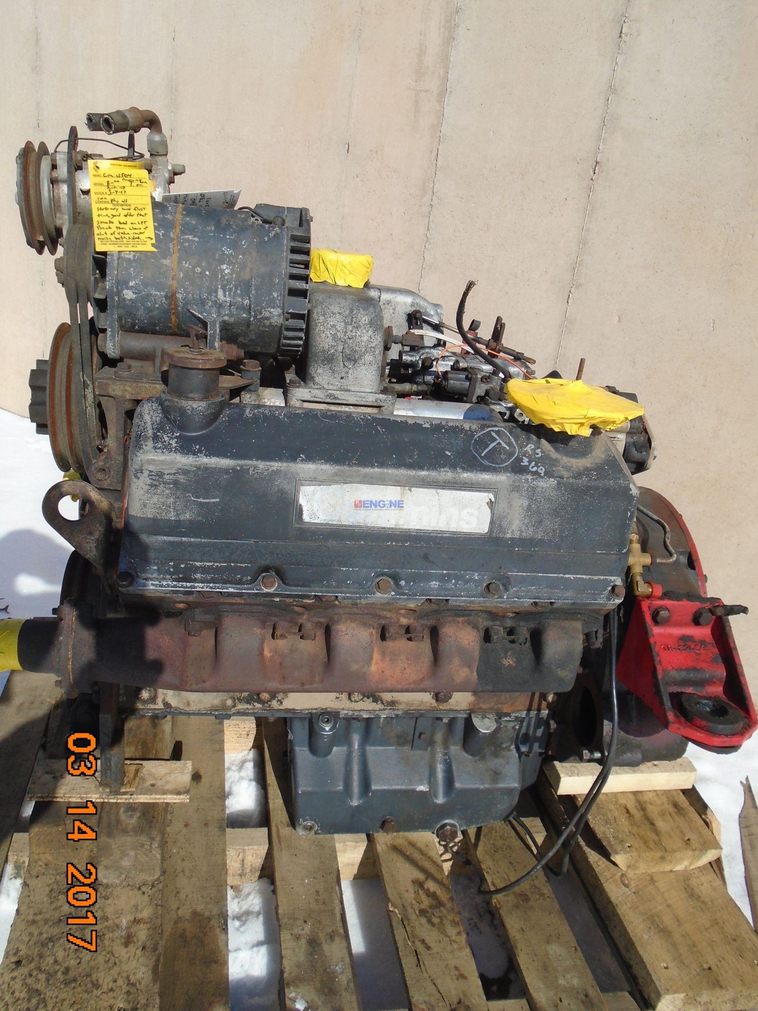 R. F. Engine Cummins V8-504 OEM Engine Complete Mechanics Rebuildable Special Running Core