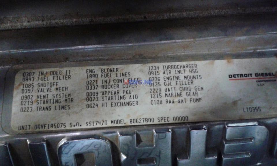 Detroit 6v92ta 560 Hp Complete Marine Engine New Old Stock