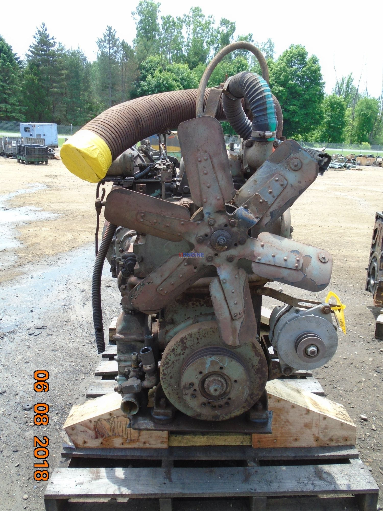 Detroit Diesel 6-71 Non Turbo Engine Complete Running Core ESN: 6A249756