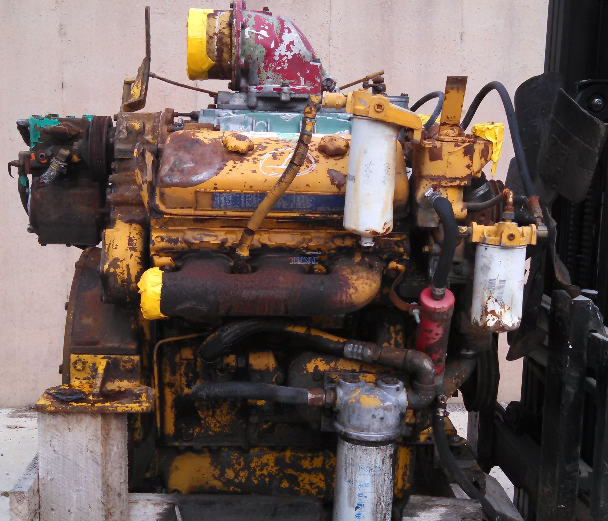 R F Engine Detroit Diesel Engine Used 6V71 NAT S N 6VA