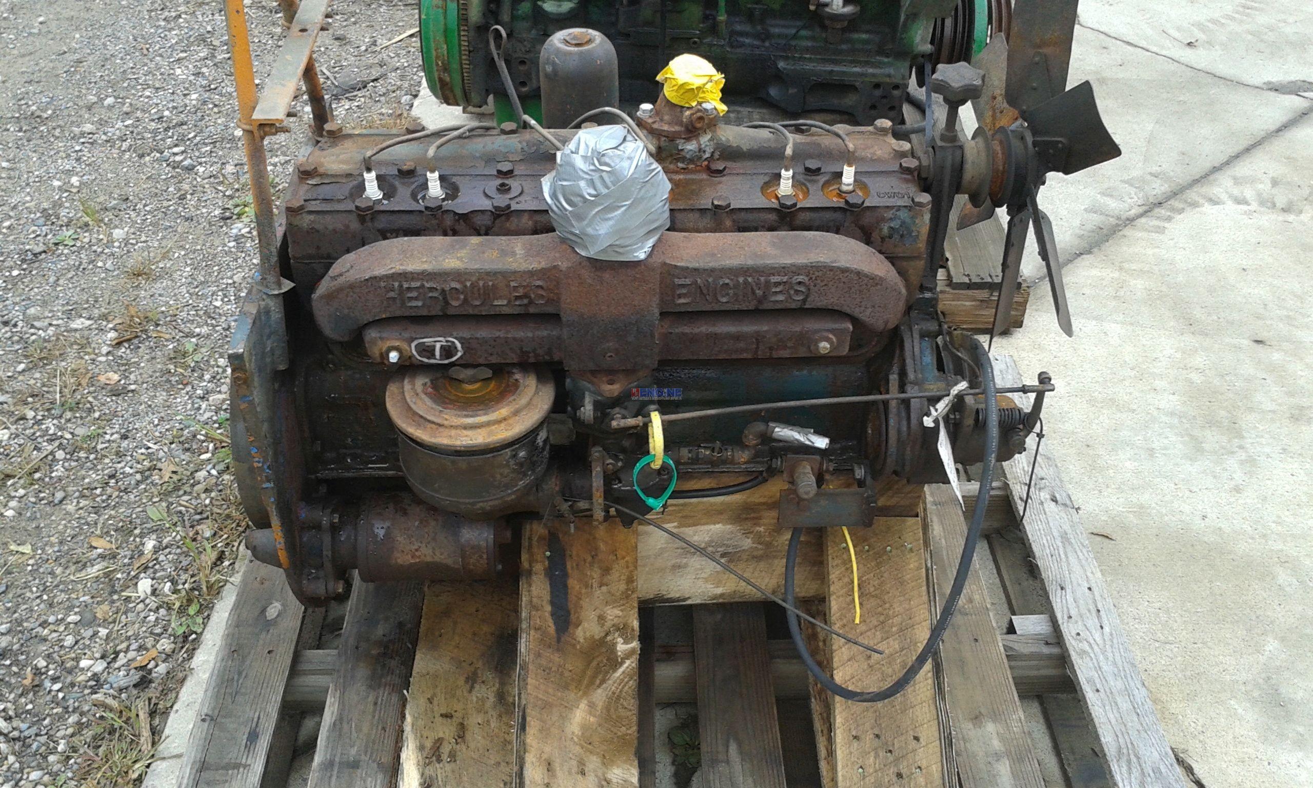 Hercules Hc Ejd Engine Complete Core Esn 164267 Test Run