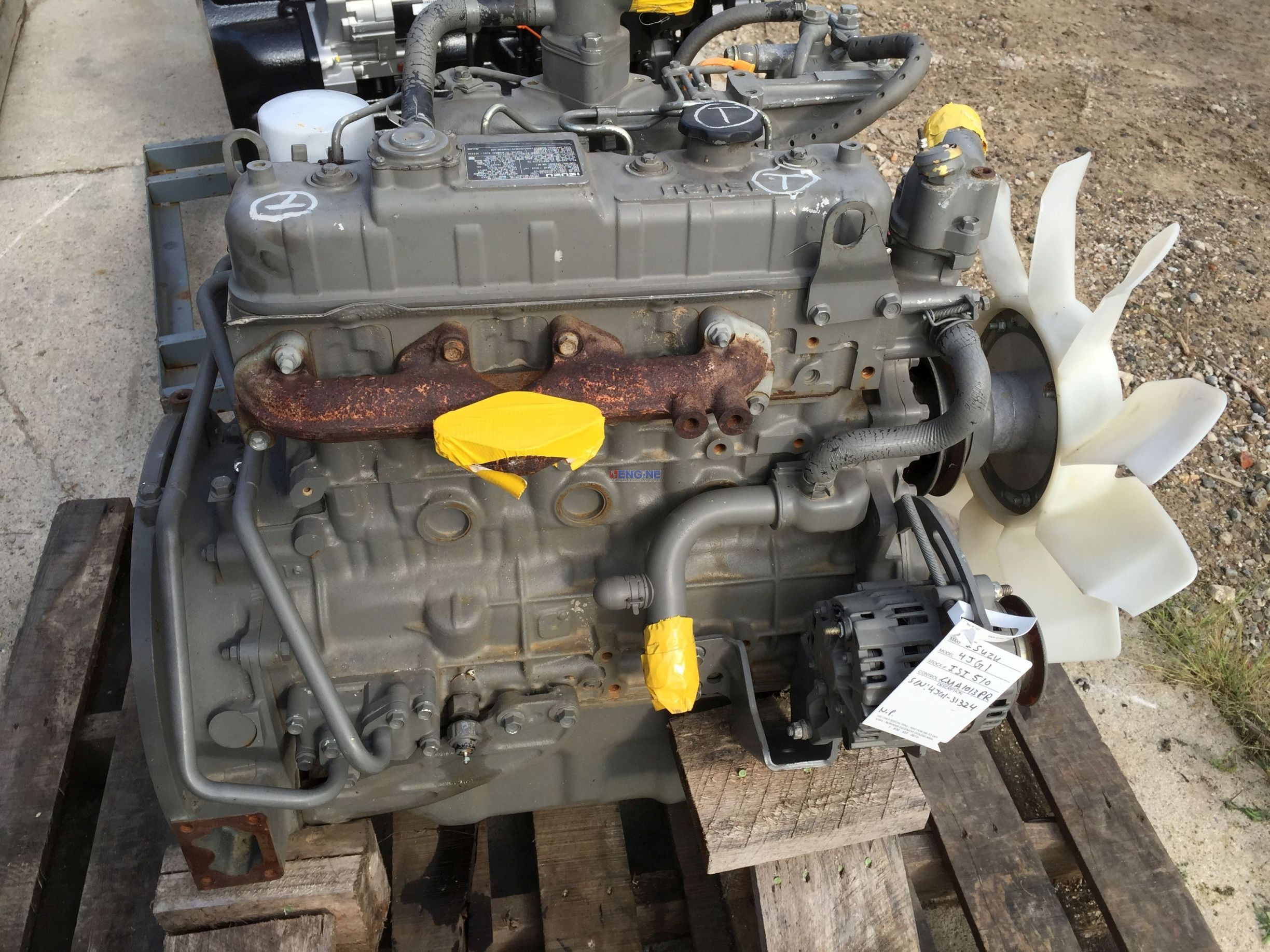 Isuzu Is 4jg1 Engine Good Running Esn 4jg1 313214 Runs