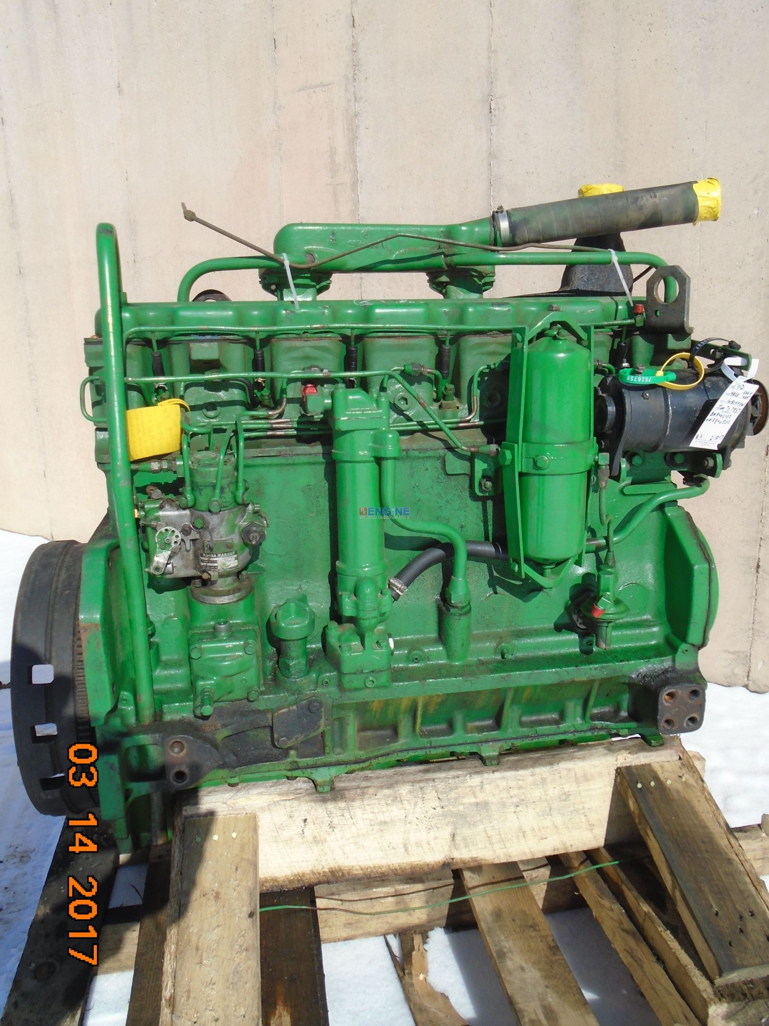 R. F. Engine John Deere 4020, 6.404 Early OEM Engine Complete Mechanics Rebuildable Special
