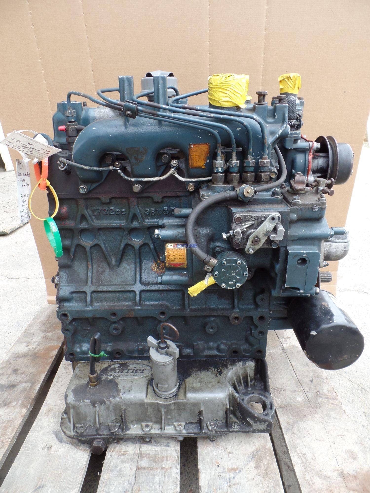 Kubota V1702 I D I , 1 7L Engine Complete