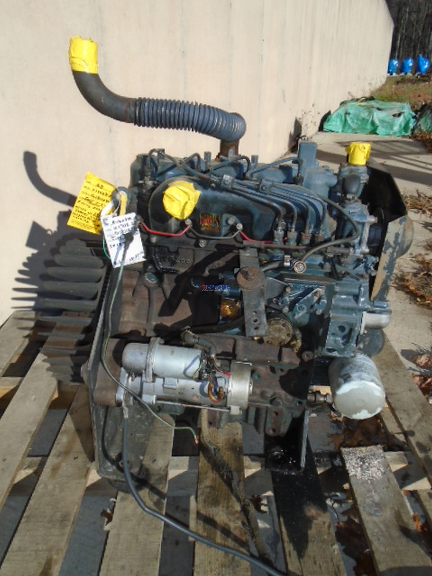 Kubota V1702, 1 7L, 742 OEM Engine Complete Mechanics Special Running Core  C+