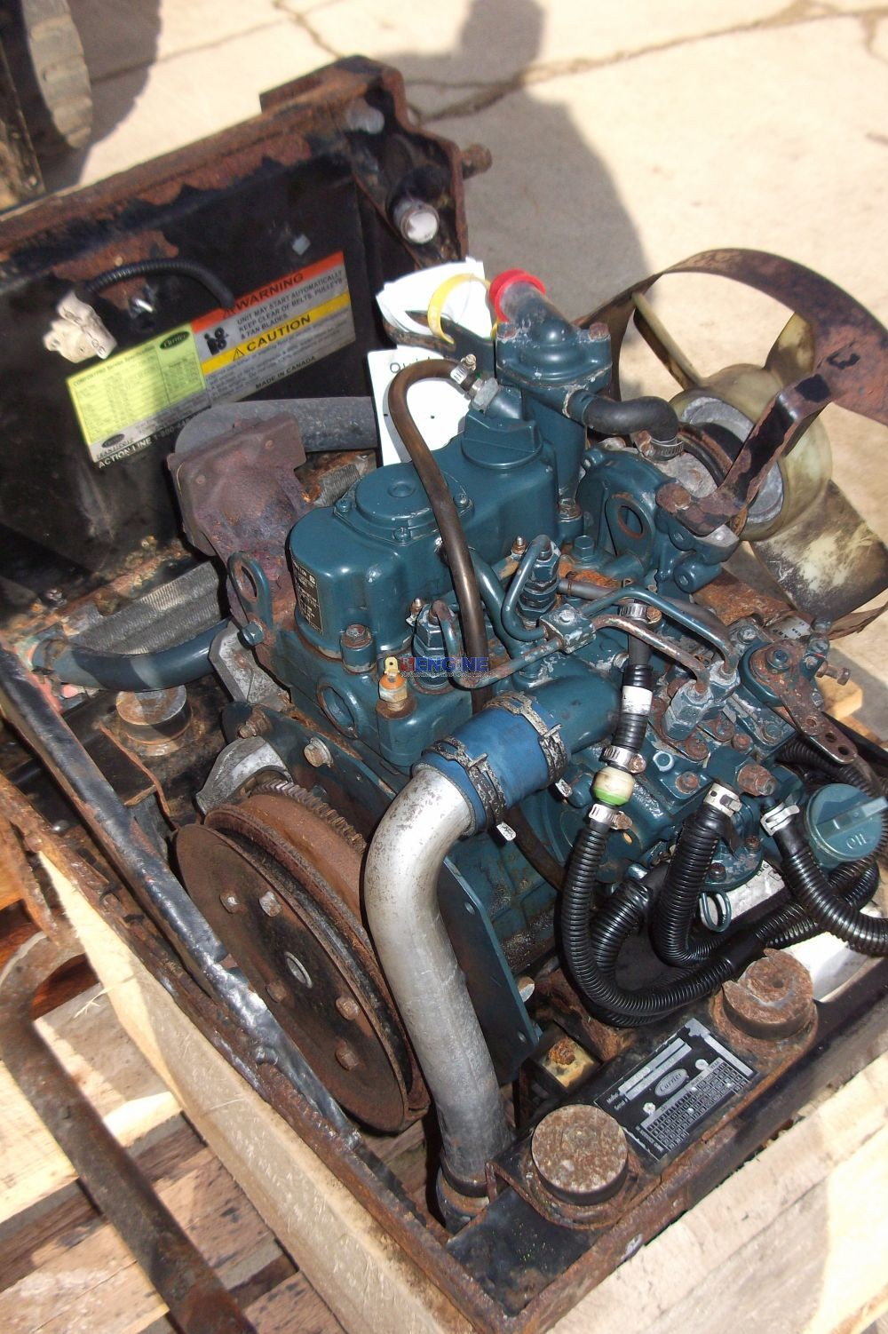 r  f  engine fits kubota z482 engine complete running b