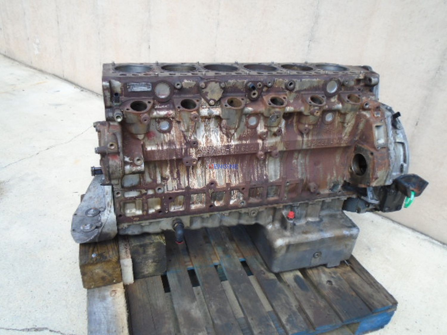 Mercedes benz om460la mbe4000 12 8l engine short block for Mercedes benz rebuilt engines