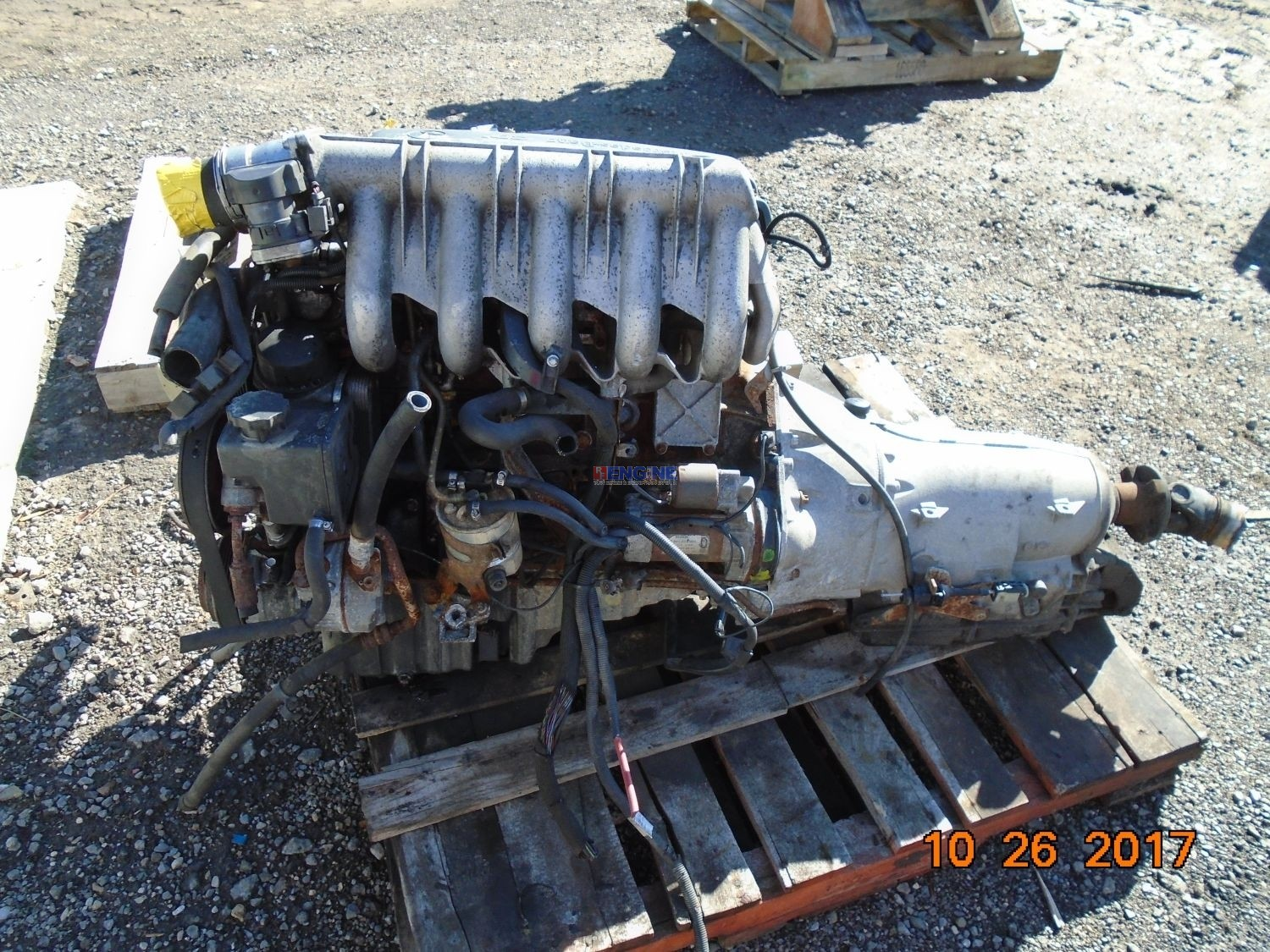 Mercedes benz om612 la cid164 engine complete used 2001 for Mercedes benz rebuilt engines