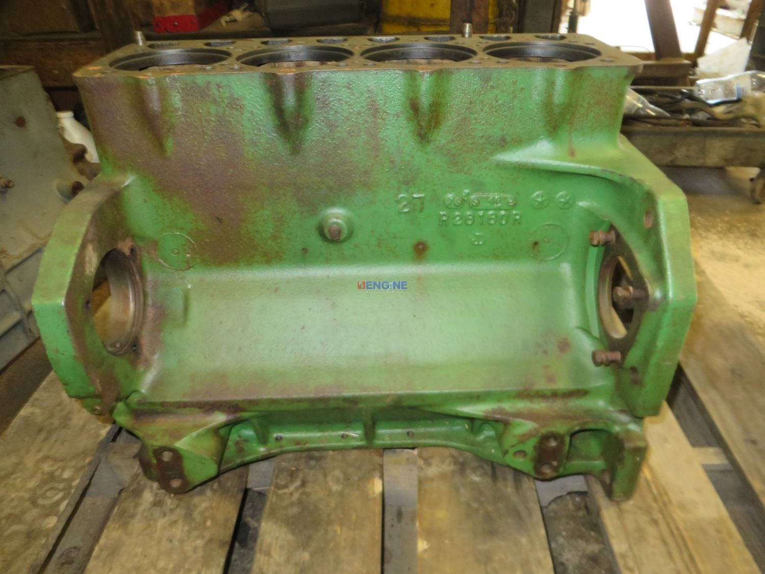 John Deere Block : R f engine fits john deere block good used