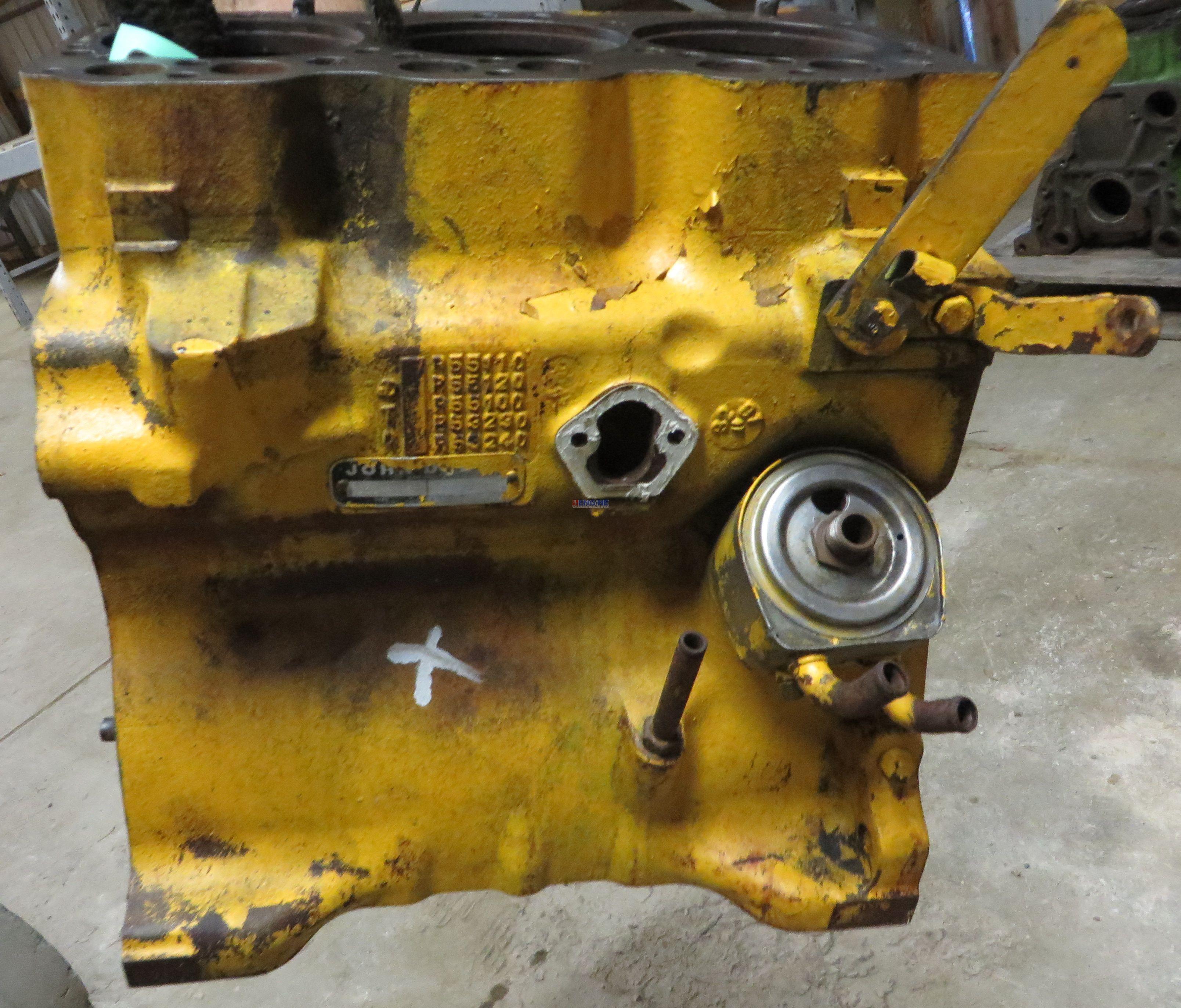 John Deere Jd 3 152 Engine Block Good Used R55110 3 Cyl