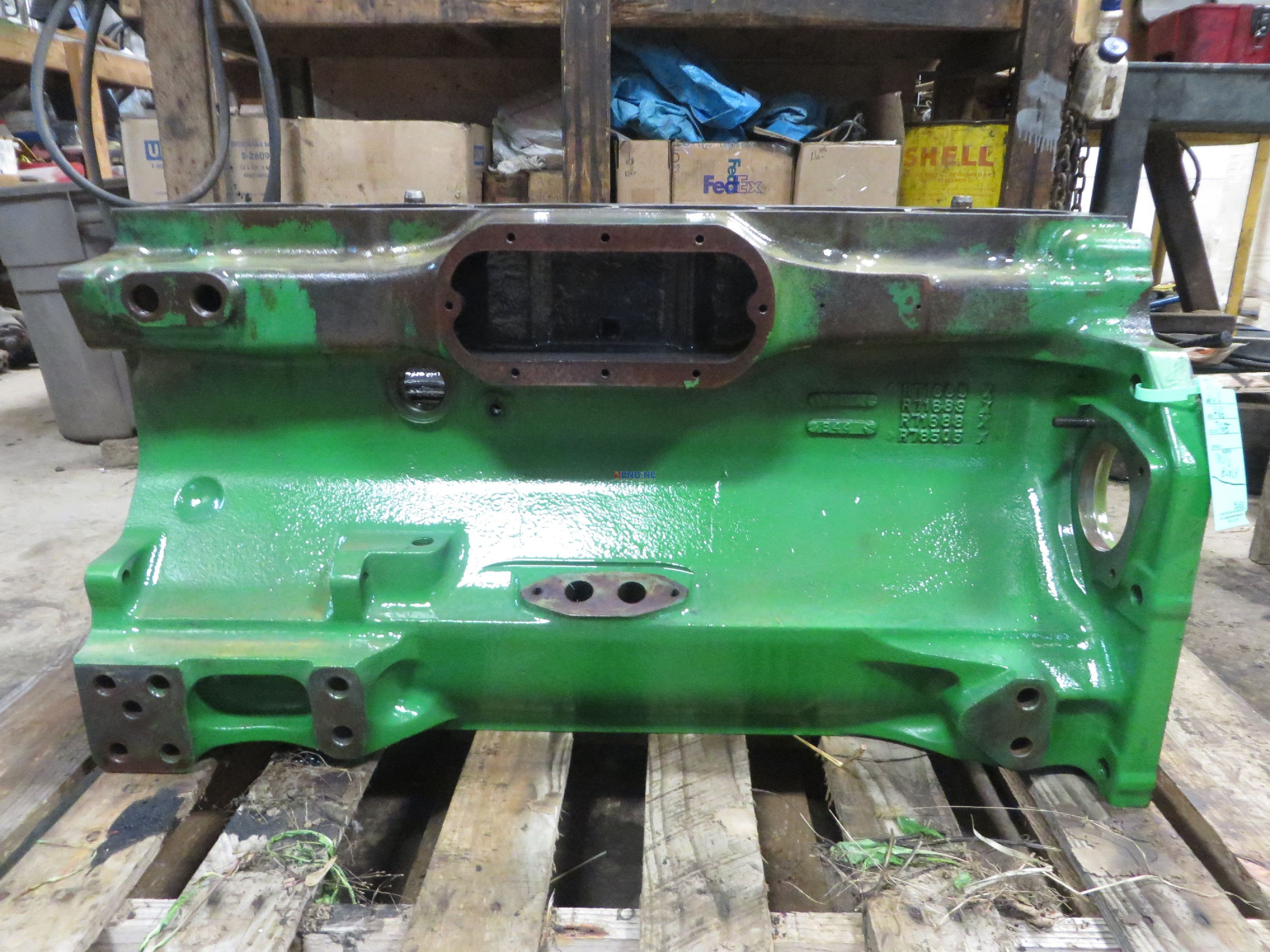 John Deere Block : R f engine john deere jd block used