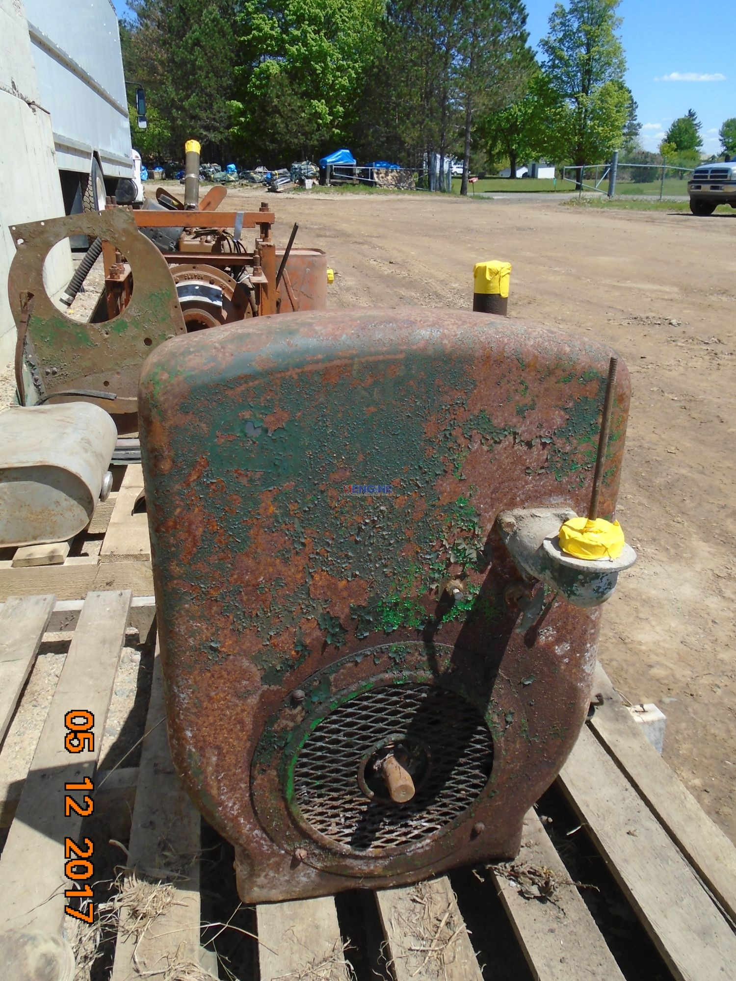 """R. F. Engine Wisconsin Vintage """"TF"""" Power Unit Engine Complete Non Running Core ESN: 1808009"""