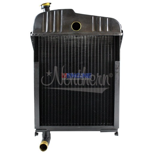 New Radiator JOHN DEERE TRACTOR FITS:  420 AND 430. WITH SHORT NECK