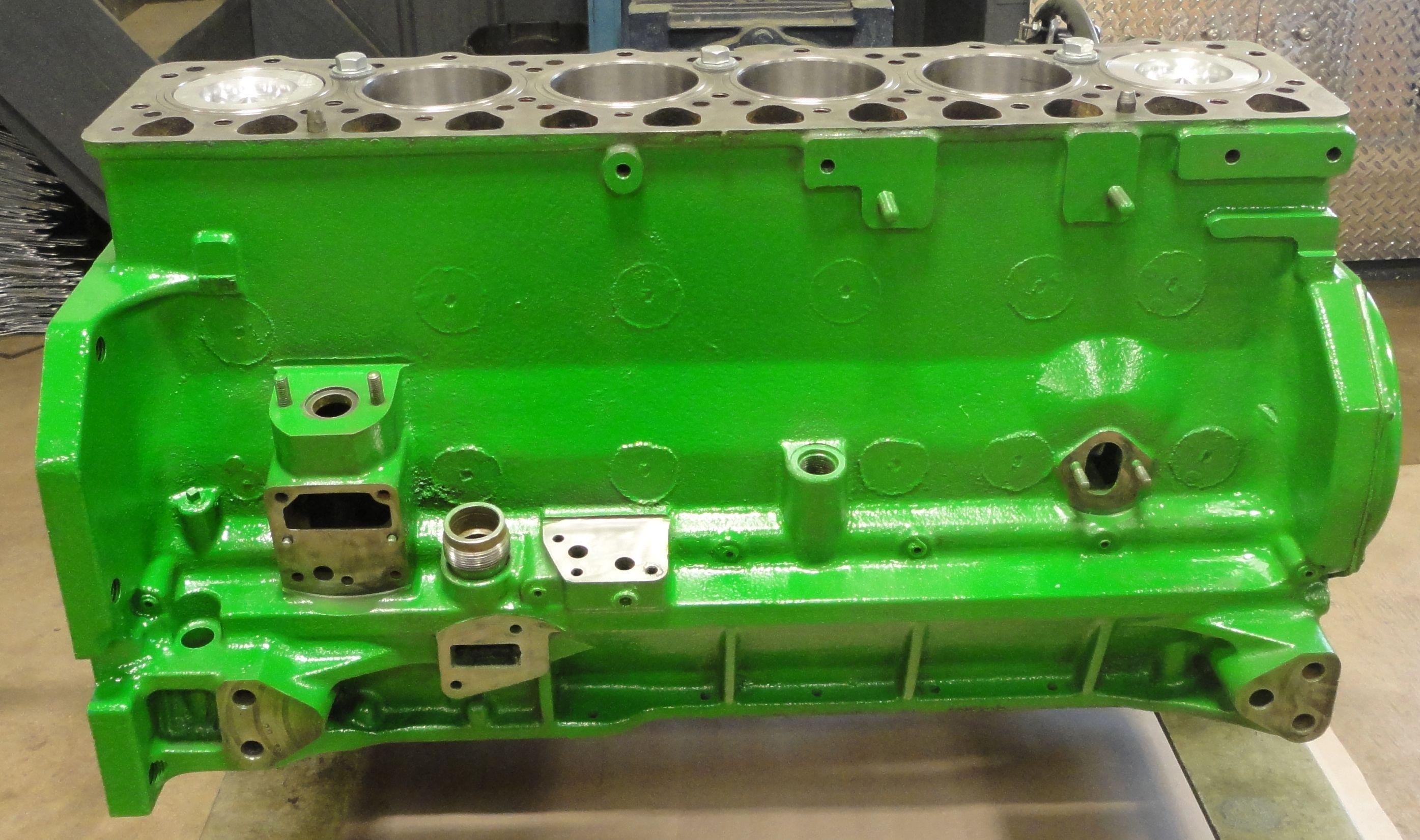 john deere jd   engine short block reman block rr forged crank