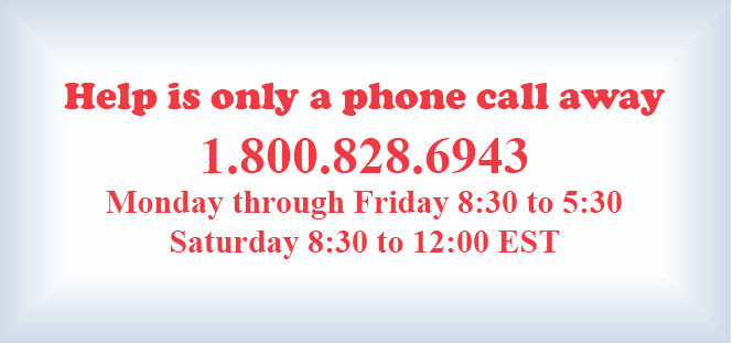 Help is only a phone call away 800 828 6943